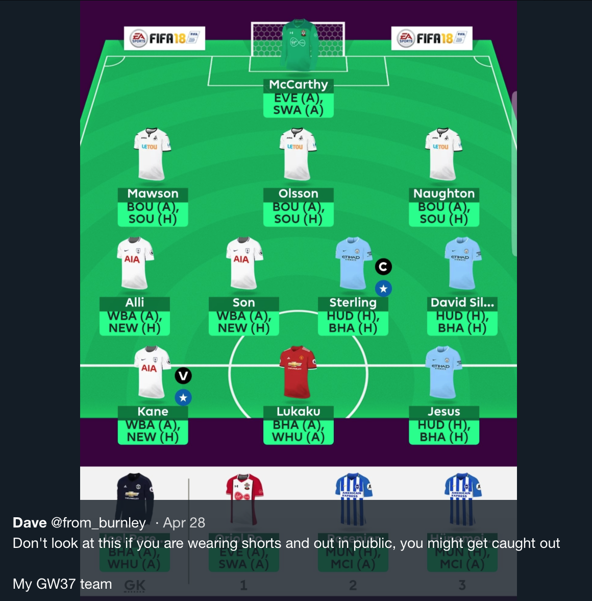 FPL Double Gameweek 37 – The Fixtures - The Stats Zone