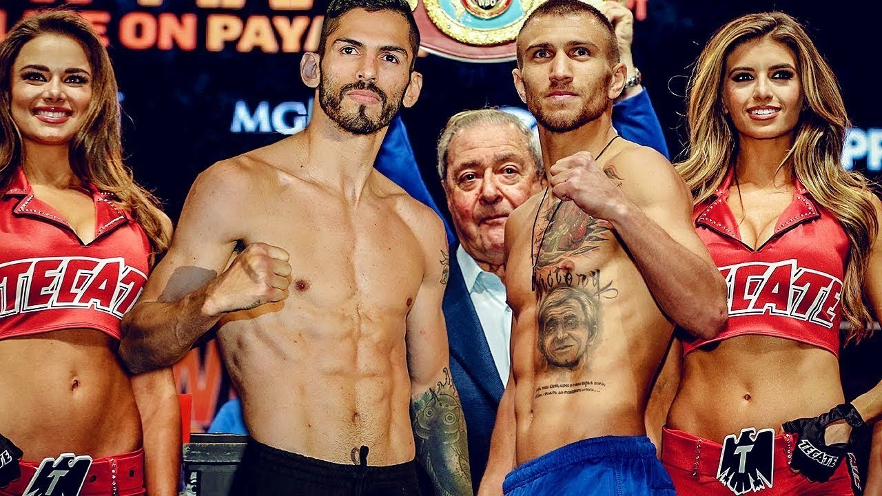 Two Of Boxings Current Pound For Pound Best In Venezuelas Jorge Linares And Ukraines Vasyl Lomachenko Face Off For The Wba Lightweight Title At New