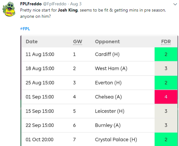 FPL Gameweek 1 – Captain Picks - The Stats Zone
