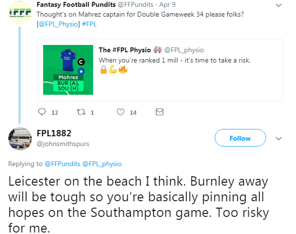 FPL Double Gameweek 34 – Captain Picks - The Stats Zone