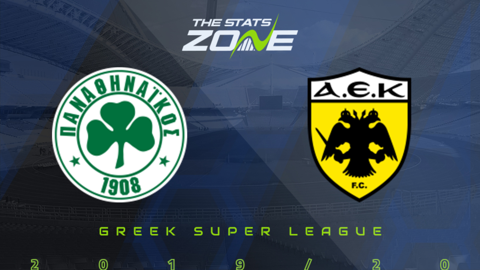 2019-20 Greek Super League - Panathinaikos vs AEK Athens ...