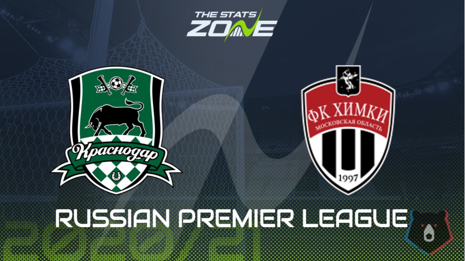 2020 21 Russian Premier League Krasnodar Vs Khimki Preview Prediction The Stats Zone