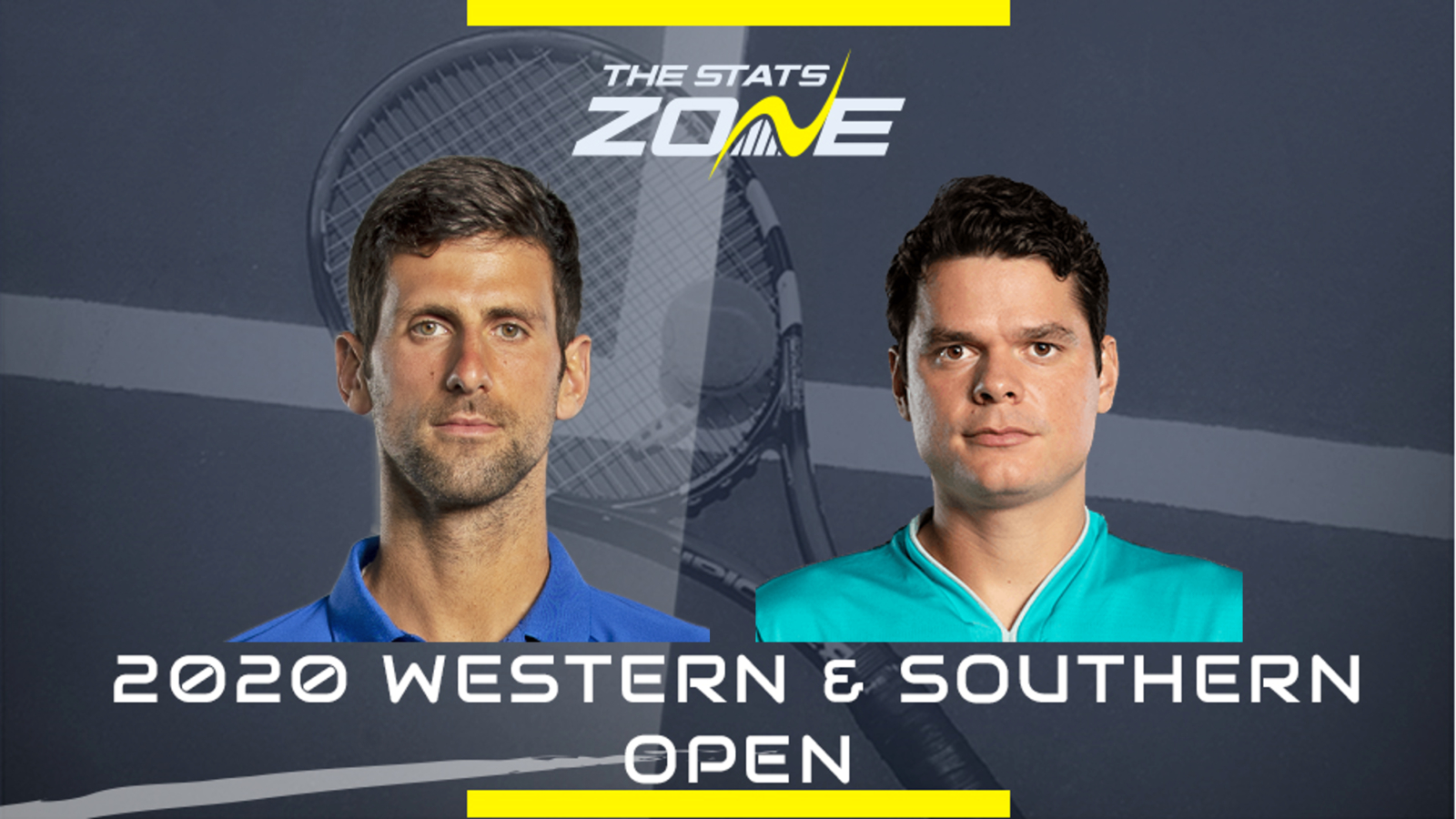 2020 Western Southern Open Novak Djokovic Vs Milos Raonic Preview Prediction The Stats Zone