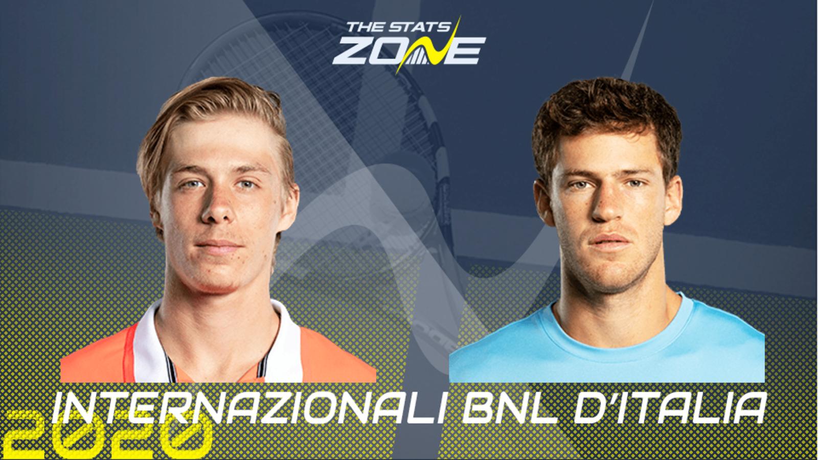 2020 Italian Open Semi Final Denis Shapovalov Vs Diego Schwartzman Preview Prediction The Stats Zone
