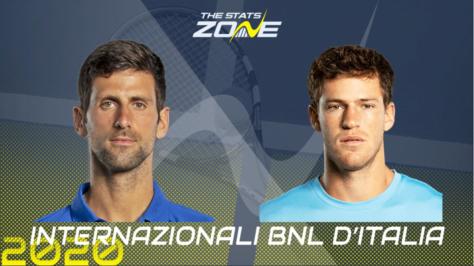 2020 Italian Open Final Novak Djokovic Vs Diego Schwartzman Preview Prediction The Stats Zone