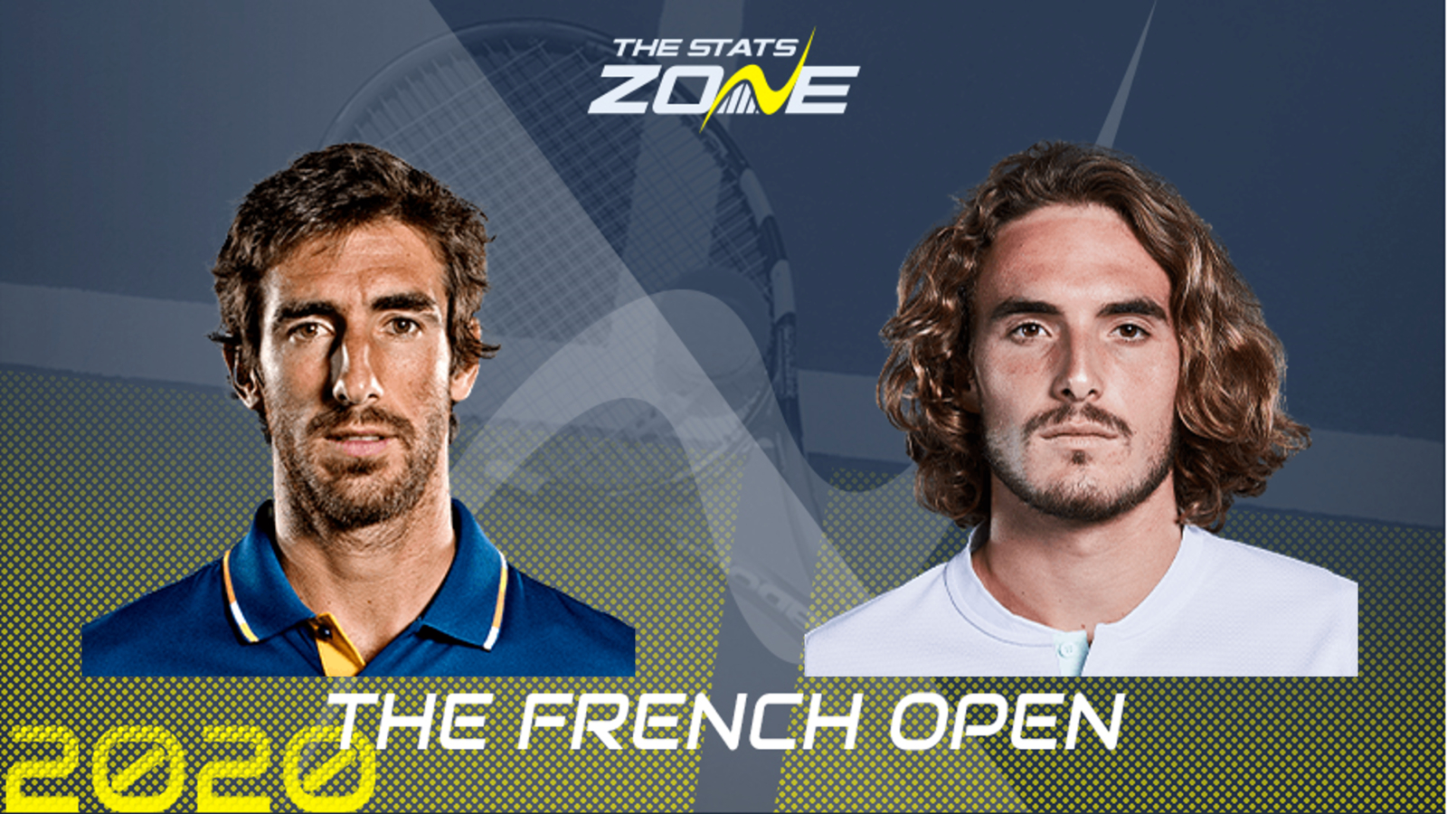 2020 French Open Second Round Pablo Cuevas Vs Stefanos Tsitsipas Preview Prediction The Stats Zone