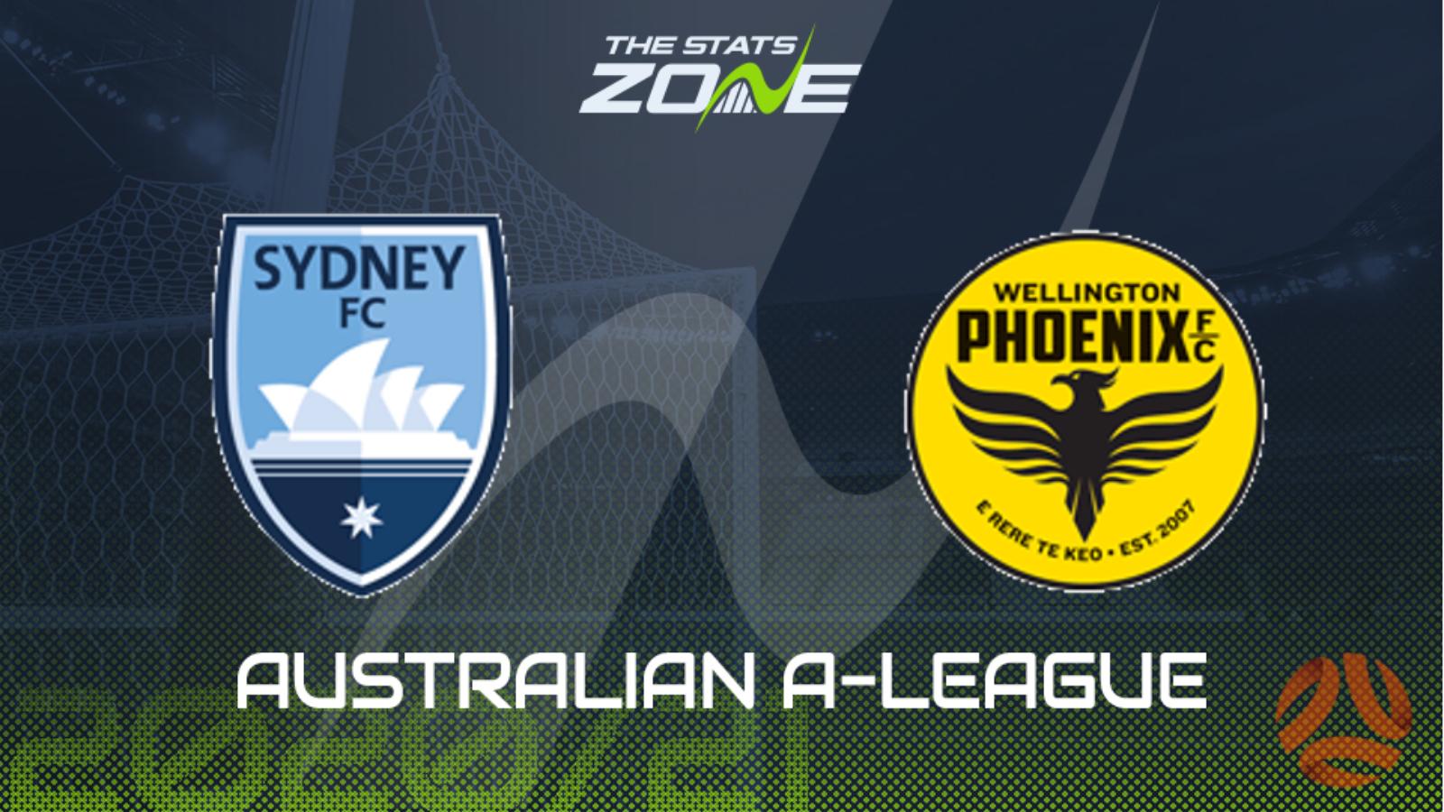 2020 21 Australian A League Sydney Fc Vs Wellington Phoenix Preview Prediction The Stats Zone