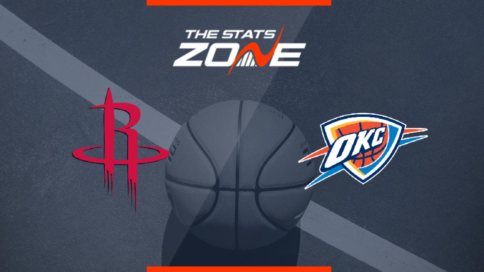 2019-20 NBA – Houston Rockets @ Oklahoma City Thunder ... Rockets Vs Thunder
