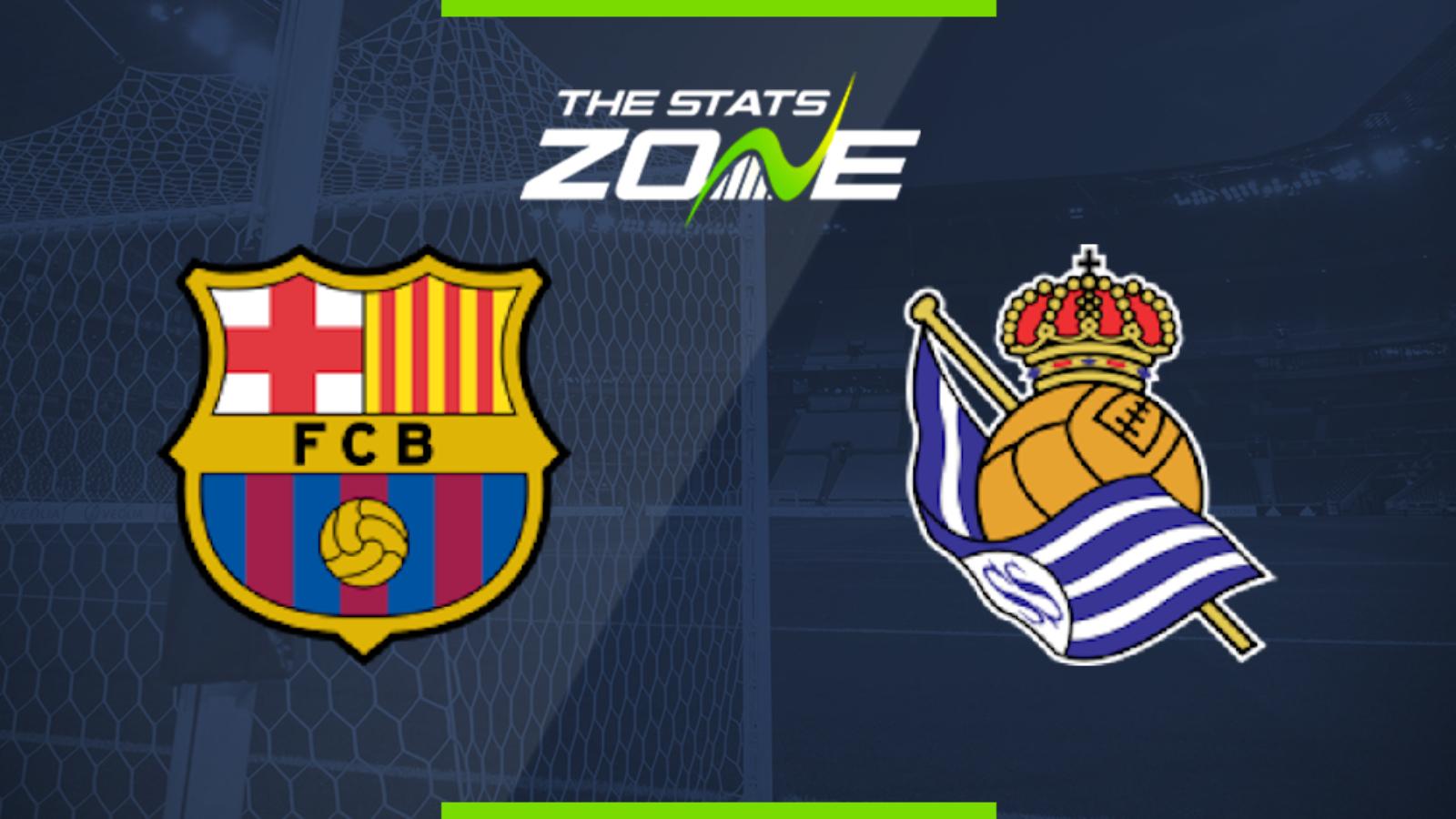 2019-20 Spanish Primera - Barcelona vs Real Sociedad ...