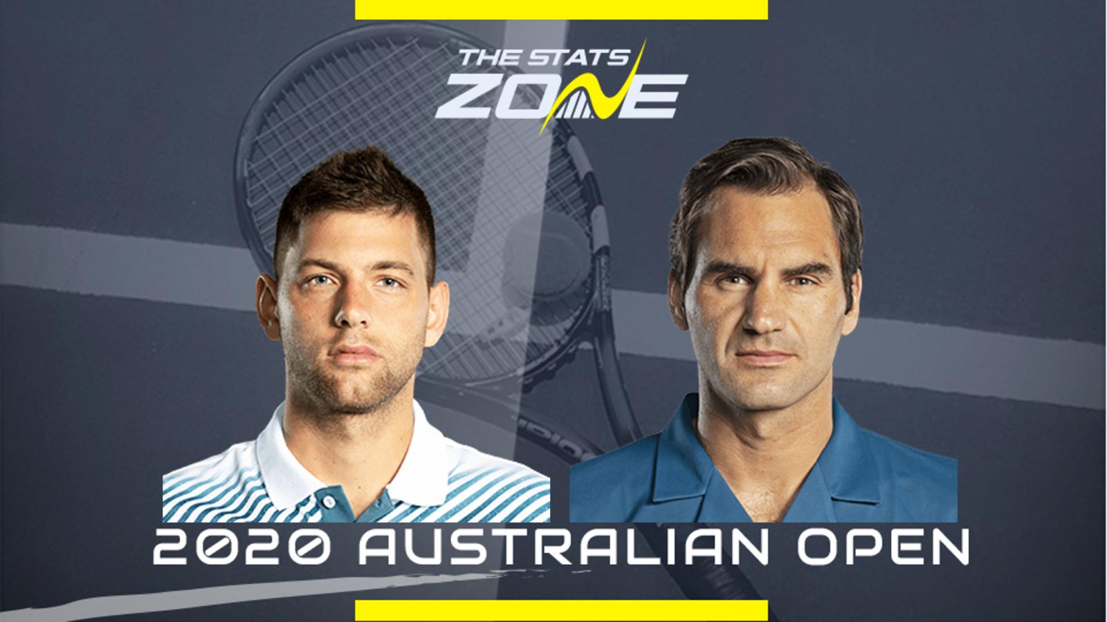 2020 Australian Open Filip Krajinovic Vs Roger Federer