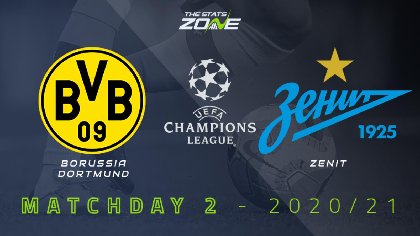 2020 21 Uefa Champions League Borussia Dortmund Vs Zenit Preview Prediction The Stats Zone