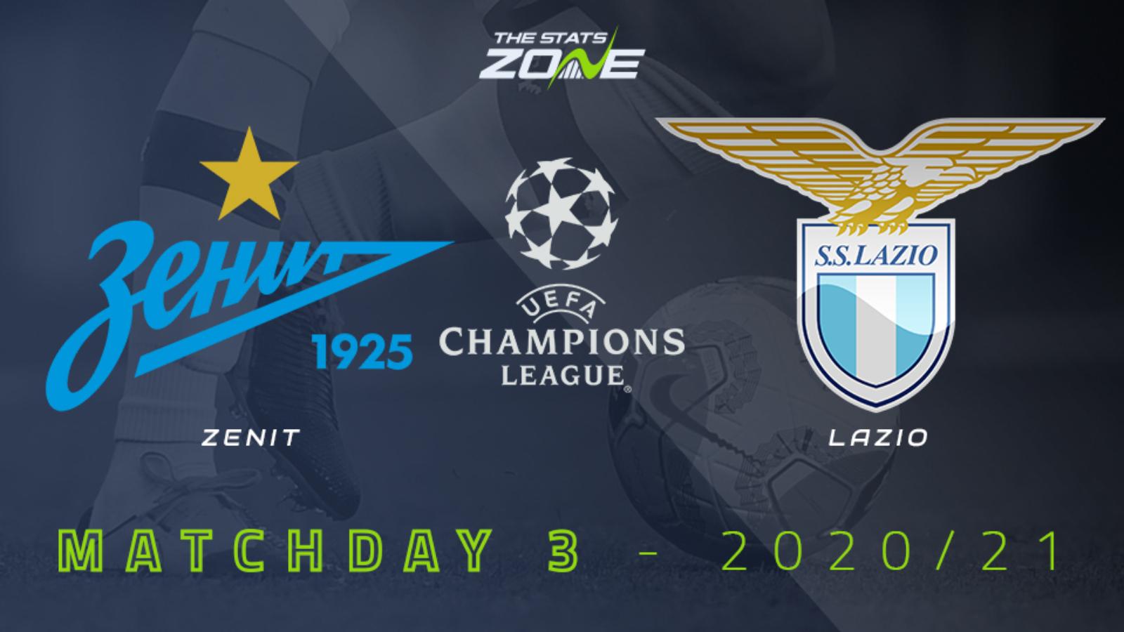 2020 21 Uefa Champions League Zenit Vs Lazio Preview Prediction The Stats Zone