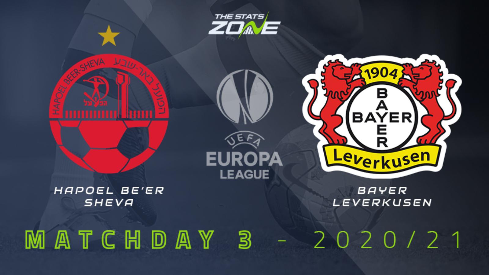 2020-21 UEFA Europa League – Hapoel Be'er Sheva vs Bayer Leverkusen Preview & Prediction - The Stats Zone